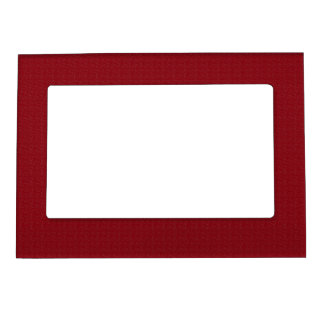 Maroon Simplicity Magnetic Photo Frames