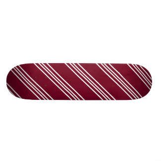 Maroon Skateboard With White Lines