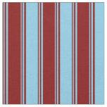 [ Thumbnail: Maroon & Sky Blue Lines Pattern Fabric ]