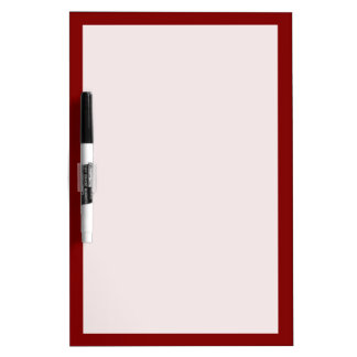 Maroon Solid Color Dry Erase Board