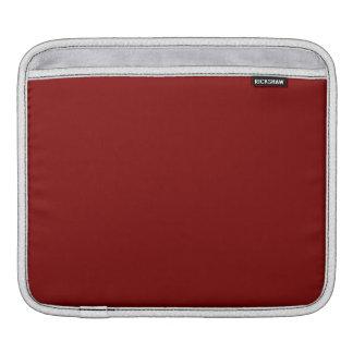 Maroon Solid Color iPad Sleeves