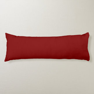 Maroon Solid Color Body Pillow