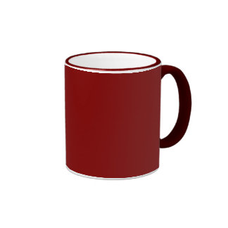 Maroon Solid Color Ringer Coffee Mug