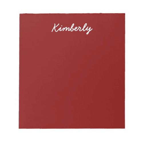 Maroon Solid Color Notepad