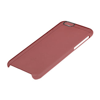 Maroon Solid Color Uncommon Clearly™ Deflector iPhone 6 Case