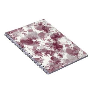 Maroon Splash Notebook