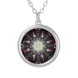 Maroon Star Silver Plated Necklace