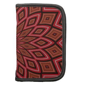 Maroon Symmetry Abstract Folio Planners