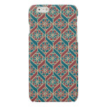 Maroon, Teal Ethnic Pattern, Flowers, Chevrons Glossy iPhone 6 Case