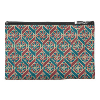 Maroon, Teal Ethnic Pattern, Flowers, Chevrons Travel Accessory Bag
