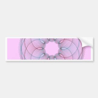 Maroon Teal Spirograph Bumper Sticker