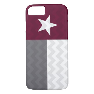 Maroon Texas Flag Chevron iPhone 7 Case