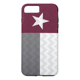 Maroon Texas Flag Chevron iPhone 7 Plus Case