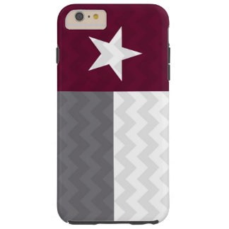 Maroon Texas Flag Chevron Tough iPhone 6 Plus Case