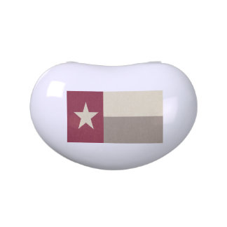 Maroon Texas Flag Fabric Jelly Belly Tins