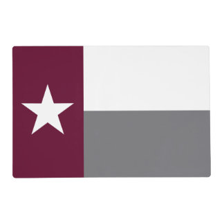 Maroon Texas Flag Placemat