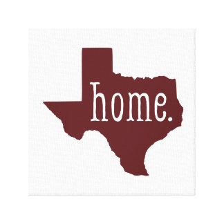 Maroon Texas Home Canvas Art