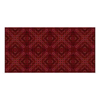 Maroon triangle mosaic card