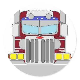 maroon truck classic round sticker