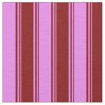 [ Thumbnail: Maroon & Violet Stripes Fabric ]