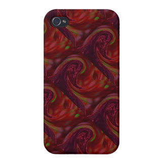 Maroon Wave iPhone 4 Case
