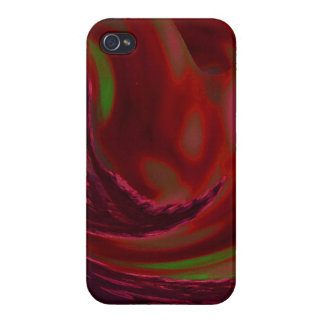 Maroon Wave iPhone 4 Covers