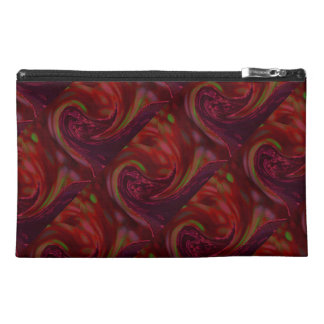 Maroon Wave Travel Accessory Bag