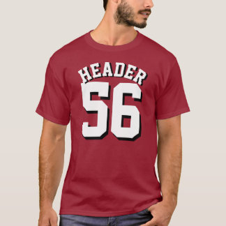 Maroon & White Adults   Sports Jersey Design T-Shirt