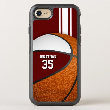 maroon white basketball team colors boys OtterBox symmetry iPhone 8/7 case