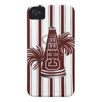 Maroon & White Cheerleader iPhone 4 Case