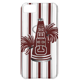 Maroon & White Cheerleader iPhone 5 Case