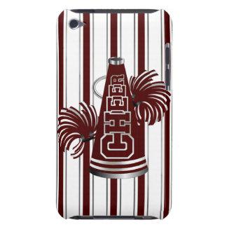 Maroon & White Cheerleader iPod Touch Case