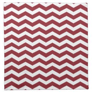 Maroon & White Chevron Pattern Cloth Napkins