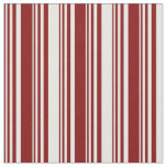 [ Thumbnail: Maroon & White Colored Striped/Lined Pattern Fabric ]
