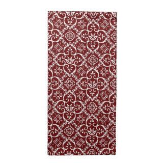 Maroon & White Damask Pattern Cloth Napkins
