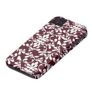 Maroon white damask stylish blackberry bold case