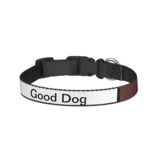 Maroon & White Dog Collar