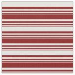[ Thumbnail: Maroon & White Pattern Fabric ]