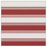 [ Thumbnail: Maroon & White Pattern of Stripes Fabric ]
