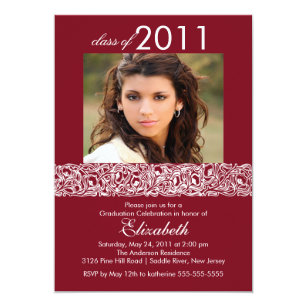 Maroon white graduation invitations announcements zazzle maroon white photo graduation invitation filmwisefo