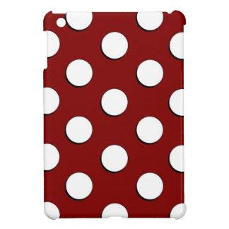Maroon White Polka Dots iPad Mini iPad Mini Case