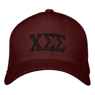 Maroon with Black Letters Embroidered Baseball Hat