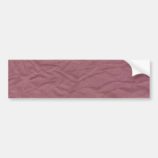 Maroon Wrinkled Paper Texture Bumper Sticker
