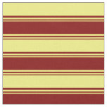 [ Thumbnail: Maroon & Yellow Colored Lines Fabric ]