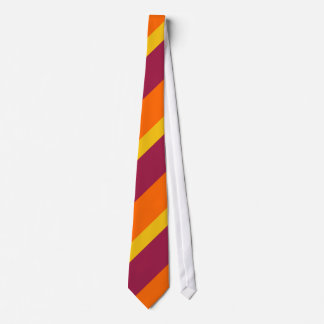 Maroon Yellow Gold and Tangerine Tie