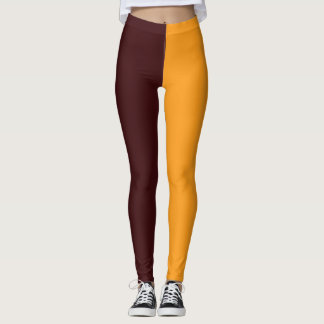 maroon yellow    high school pride colors leggings