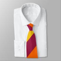 Maroon Yellow & Orange Broad Regimental Stripe Tie