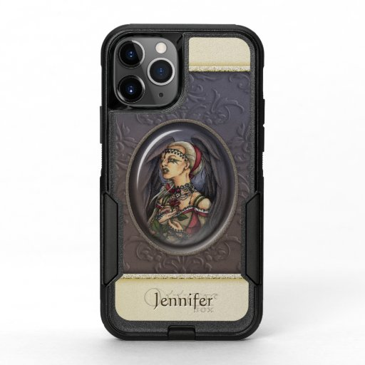 Marooned - Gothic Angel Portrait :: personalizable OtterBox Commuter iPhone 11 Pro Case
