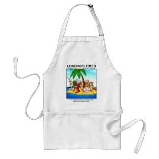Marooned On Dessert Island Funny Tees & Gifts Adult Apron
