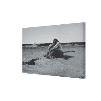 Marooned Pirate Canvas Print